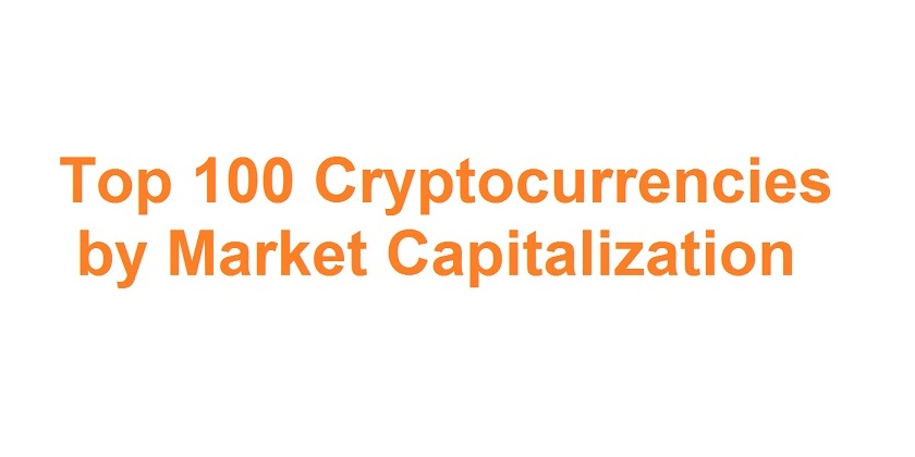 Top 100 Cryptocurrencies by Market Capitalization (03-27-2019)