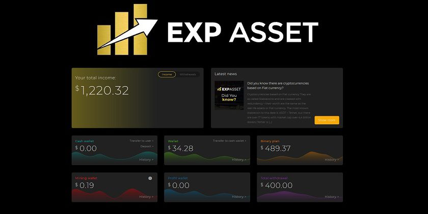 Withdrawal $140 on EXP ASSET